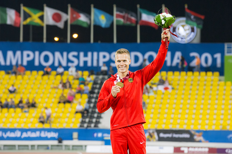 2015パラ陸上世界選手権で世界記録を出し金メダルに輝いたレーム(撮影:越智貴雄)