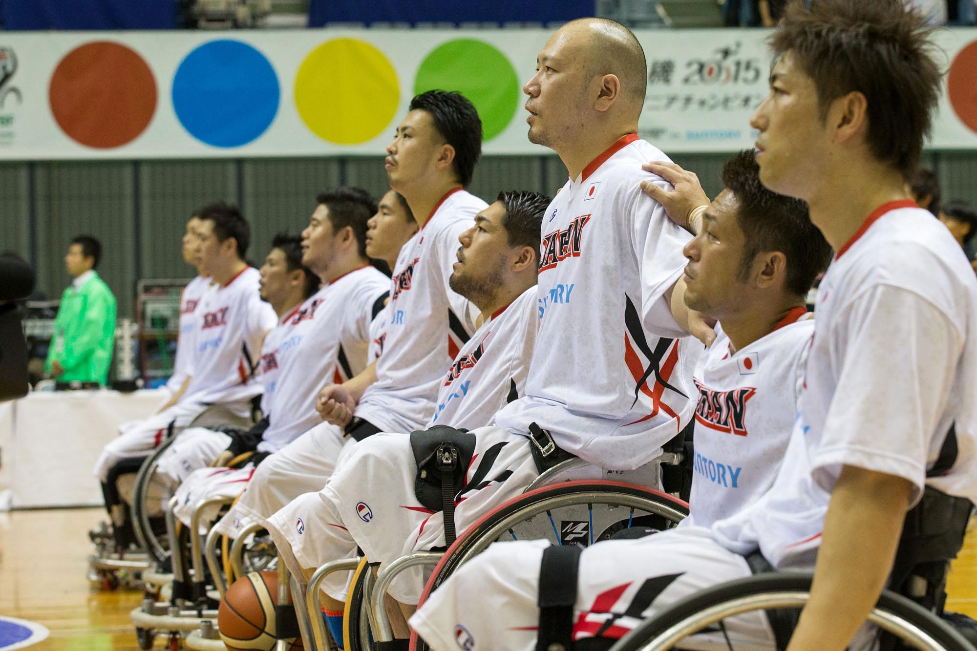 今大会、6位以内を目指す車椅子バスケットボール男子日本代表(撮影:越智貴雄)