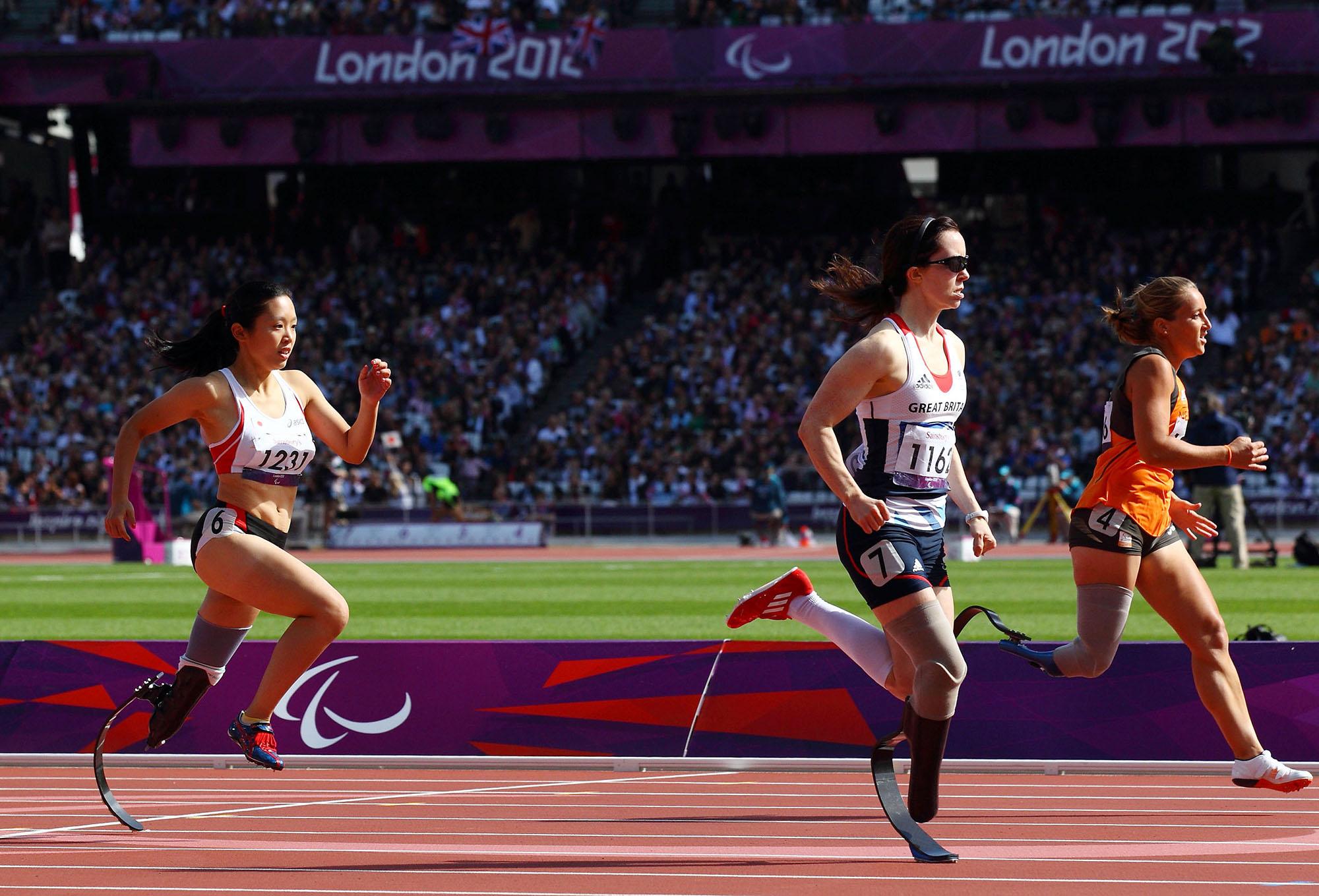 ロンドンで、短距離で決勝進出を果たすも、トップアスリート達との距離が遠かった(撮影:越智貴雄)