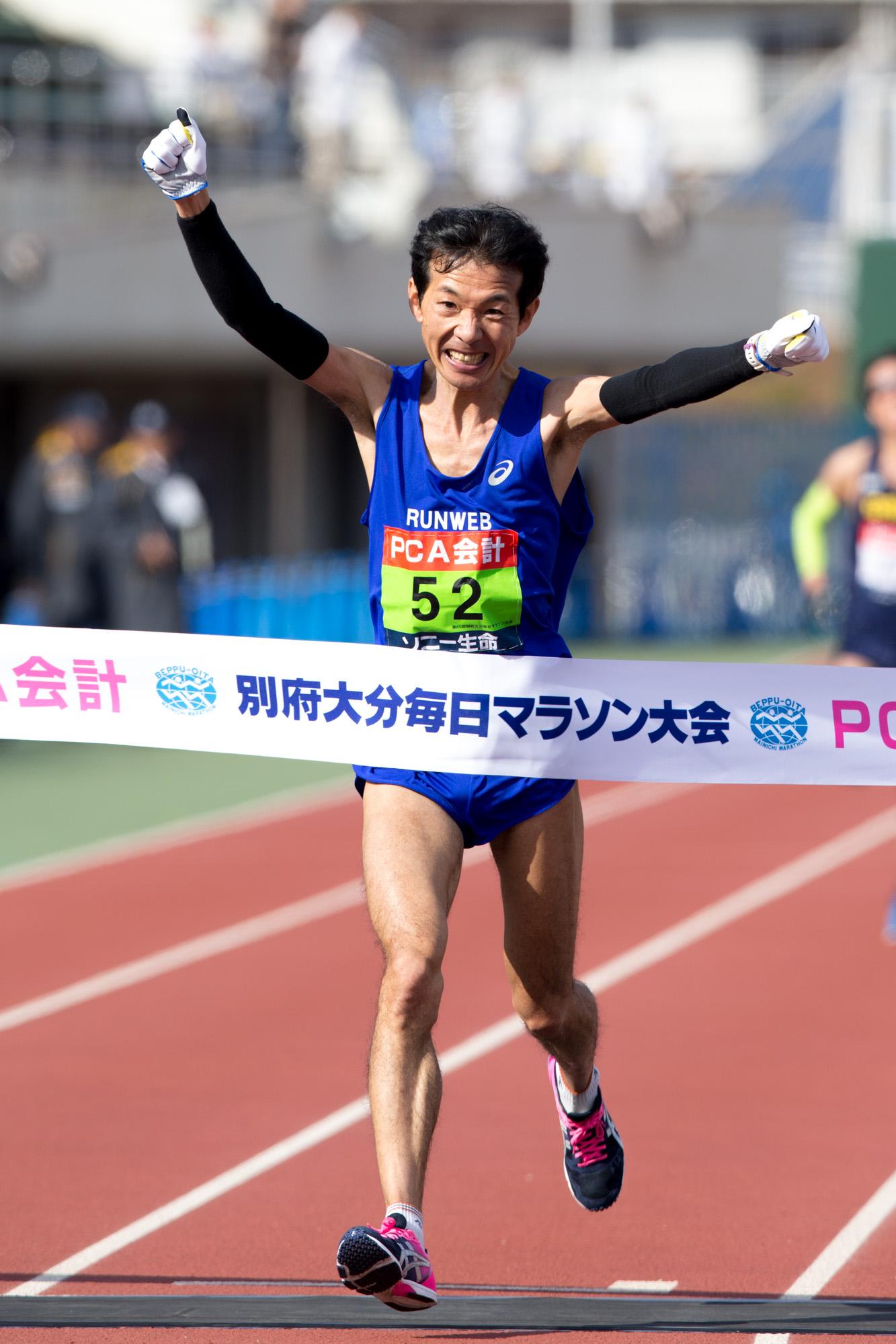 北京大会では伴走者として走り、ロンドン大会では4位だったベテランの岡村(撮影:越智貴雄)