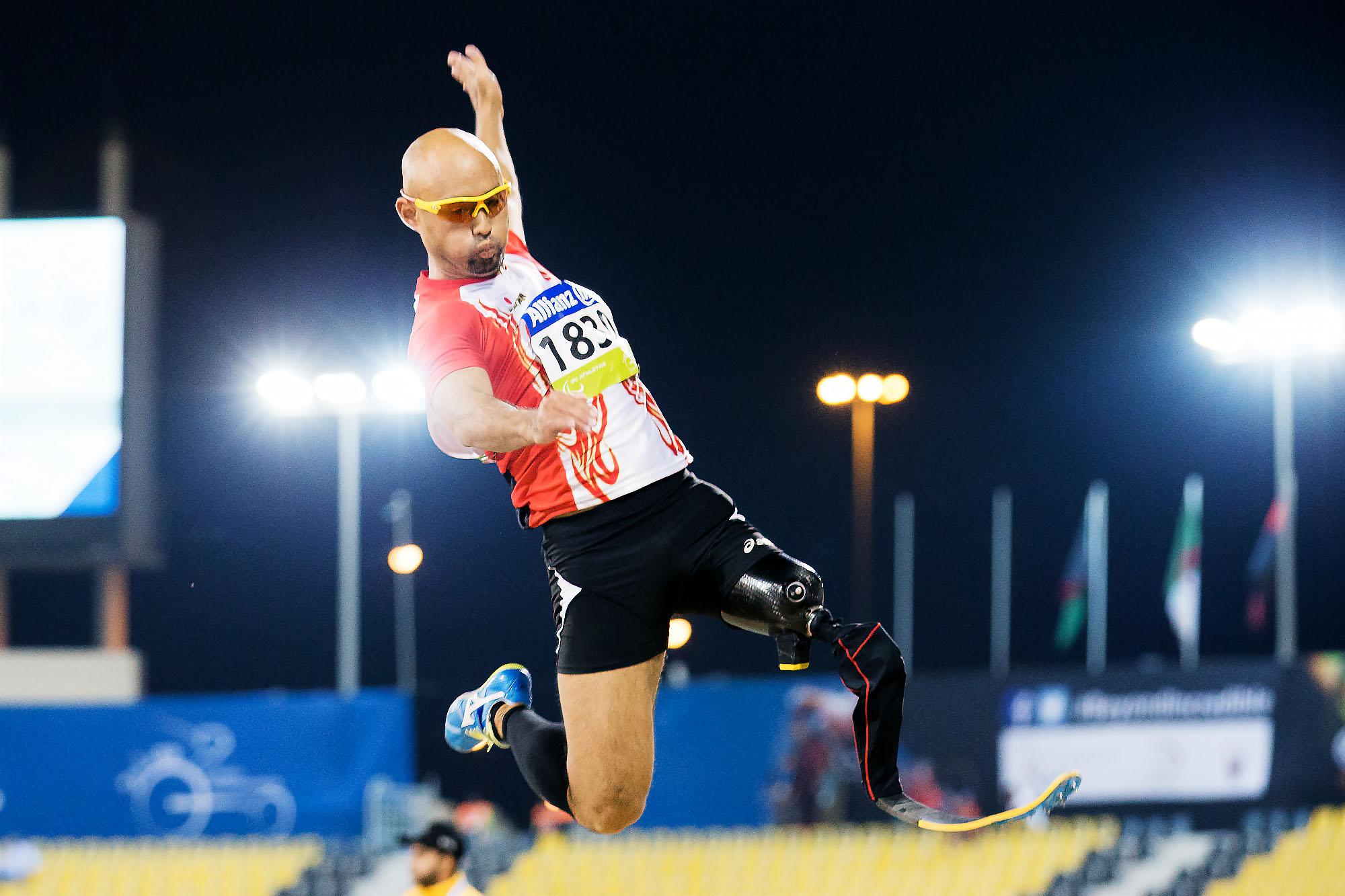 2015IPC陸上世界選手権ドーハ大会で金メダルを獲得した山本篤(撮影:越智貴雄)