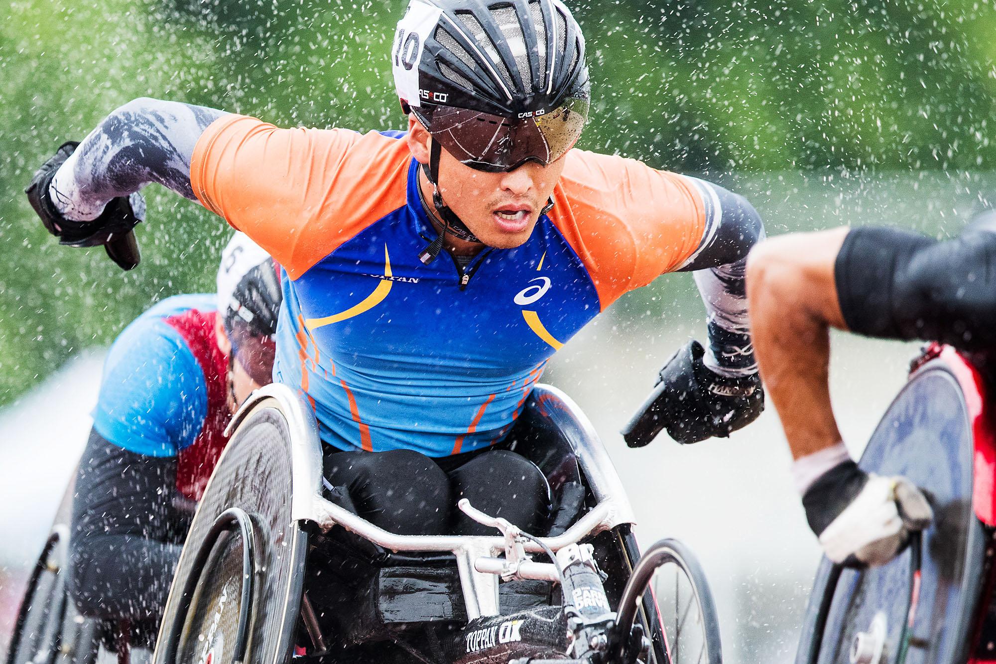 スイス(2016パラ陸上グランプリシリーズ)では雨の影響もあり、リオ選考対象に届く結果は出せなかった(撮影:越智貴雄)