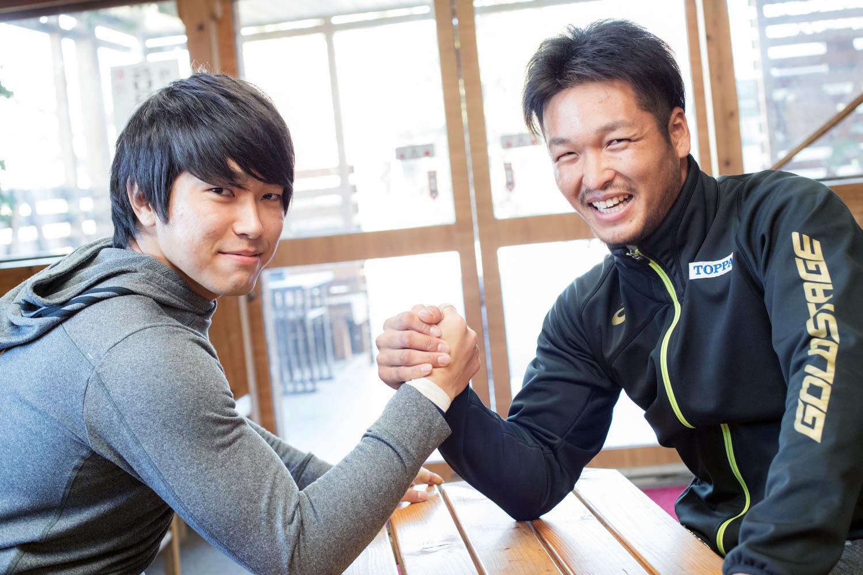 東京に向けて大きな期待が寄せられている若きランナー、渡辺勝(右)と 鈴木朋樹(撮影:越智貴雄)