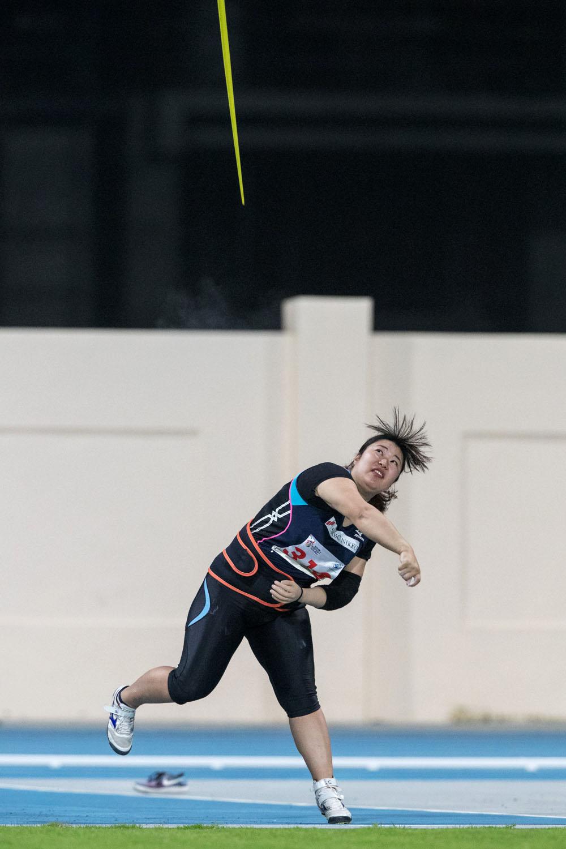 女子やり投げ(F46)日本記録更新となる32.92mの記録を出した加藤(撮影:越智貴雄)